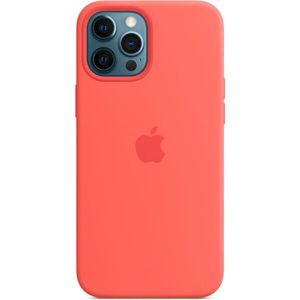 Apple silikonový kryt s MagSafe na iPhone 12 Pro Max citrusově růžový