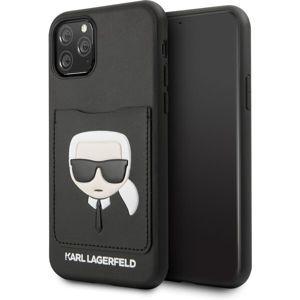 Karl Lagerfeld CardSlot KLHCN61CSKCBK kryt iPhone 11 černý