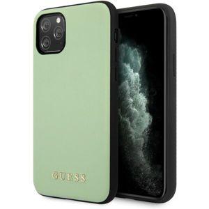 Guess PU Leather kožený kryt iPhone 11 Pro Max zelený