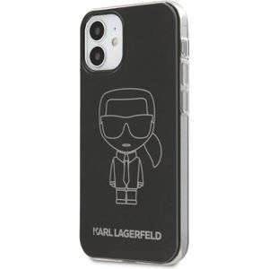 "Karl Lagerfeld PC/TPU Metallic Iconic Outline kryt iPhone 12 mini 5.4"" černý"