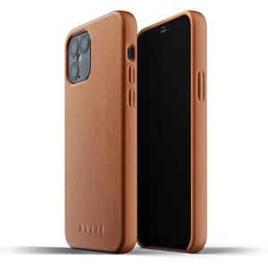 Mujjo Full Leather kryt Apple iPhone 12 / 12 Pro žlutohnědý